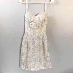 B Darlin White Strapless Dress